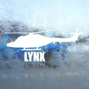 LYNX White Decal Military Soldier Car Window Laptop White