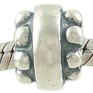 Beaded Edge Sterling Silver Spacer Bead fits European Charm Bracelet