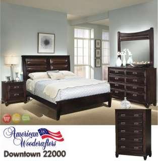 Modern Bedroom Furniture Set King Platform Bed 5 piece