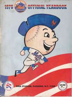 1976 *NEW YORK METS* OFFICIAL YEARBOOK MAGAZINE MR. MET D J