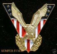 AUTHENTIC USA FLAG VICTORY EAGLE US WW2 JEWELRY HAT PIN