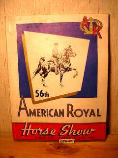 1954 American Royal Book 208 Pages Shipley Kansas City