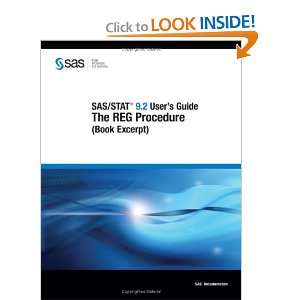 SAS/STAT 9.2 Users Guide The REG Procedure (Book Excerpt