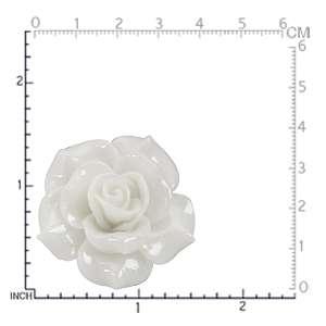 38MM HUGE White Stainless Steel ROSE/FLOWER Ring(RN2075286.0001)