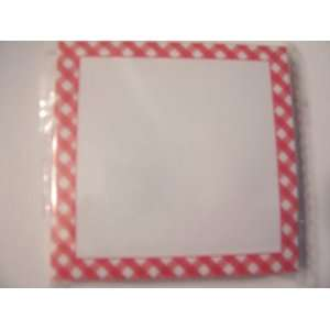 Sticky Note Pad ~ Red Plaid Border (100 Sheets): Office