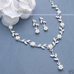 BRIDAL WEDDING Tiara BRIDESMAID NECKLACE Jewelry SET 36