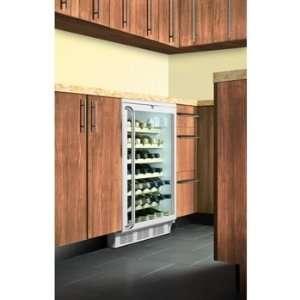 Grade 50 Bottle Built In Wine Cellar w/ Wooden Shelves & Full