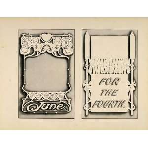 1910 Print Design Template Fourth of July Art Nouveau   Original Print