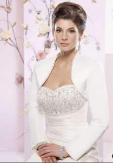 Satin Long Sleeves Wedding Bridal Bolero/Shrug Jacket*
