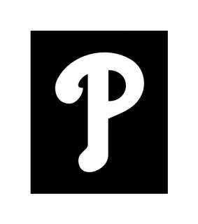 Philadelphia Phillies P Logo Helmet Stickers 2 #3hh