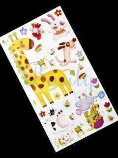 Giraffe Animal Wall Stickers Kids Toddle Children Room Nursery Wall
