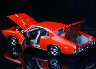 1969 Pontiac GTO JUDGE Orange   Red Box 124 Scale