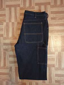 Mens Big Mac Work Wear Rigid Heavy Indigo Blue Denim Carpenter Jeans