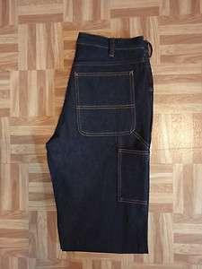 Mens Big Mac Work Wear Rigid Heavy Indigo Blue Denim Carpenter Jeans