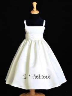 IVORY WEDDING BRIDAL FLOWER GIRL DRESS L 2 4 6 8 10 832