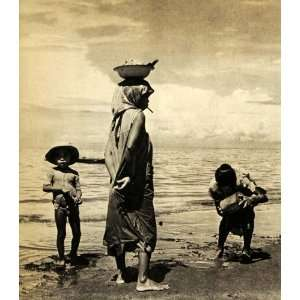 1940 Print Manila Philippines Island Beach Children Family Fenno