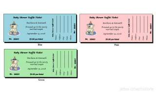 56 Personalized Baby Shower Raffle Ticket Favors