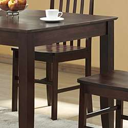 Abigail 48 inch Solid Wood Espresso Dining Table  Overstock