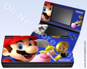 Nintendo DSi Skin Vinyl Decal   Mario & Princess Peach