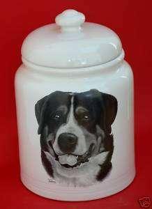 GREATER SWISS MOUNTAIN DOG  10 COOKIE/TREAT JAR