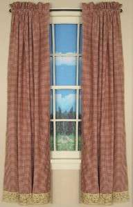 IHF Country Decorative Window Treatment/Curtain for sale Checkerberry