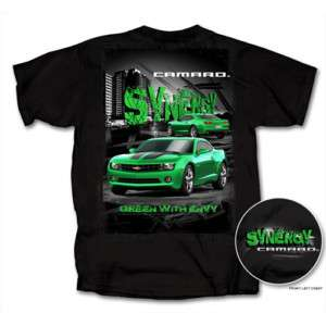 Camaro Synergy Green with Envy Black Tee Shirt NWT
