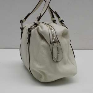 Coach White Leather Small Handbag!