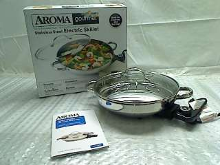 Aroma AFP 1600S Gourmet Series Stainless Steel Electric Skillet