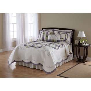 , Ashley 100 Percent Cotton Double Wedding Ring Quilt