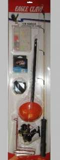 Claw ICE EAGLE Rigged to Rip Ice Fishing Rod & Reel Combo *CASE LOT