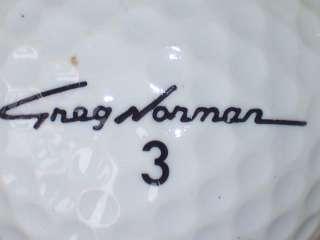 1986 GREG NORMAN #3 SIGNATURE LOGO GOLF BALL BALLS