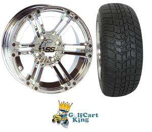 ITP SS212 Low Profile Golf Cart 12 Wheel & Tire Combo