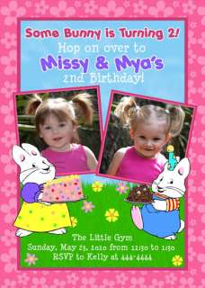 MAX AND RUBY CUSTOM BIRTHDAY INVITATIONS