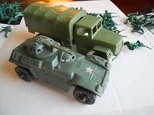 Vintage Toy Soldiers Plastic Soldiers Trucks Tanks Toys Plastice Toys