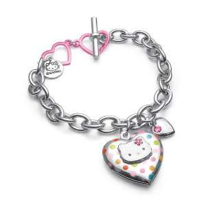 Hello Kitty Polka Dot Locket Bracelet: Toys & Games