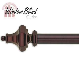 Sienna Bronze Hex Curtain Rod  Window Blind Oulet