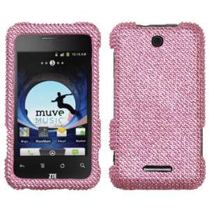 Pink Crystal Diamond BLING Hard Case Phone Cover for Cricket ZTE Score