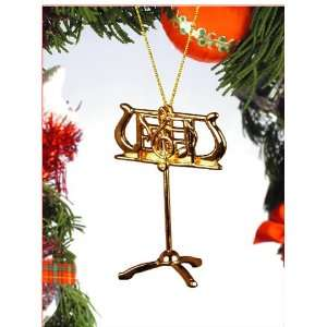 Gold Music Stand tree Ornament