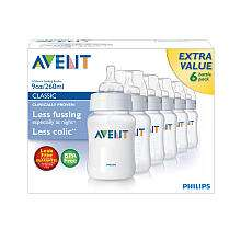 Philips AVENT BPA Free 6 Pack Bottles   9 oz.   Avent   Babies R
