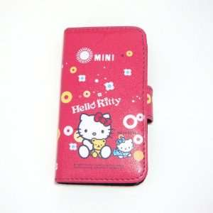 hello kitty baby flip leather case for iphone 4 4G Cell