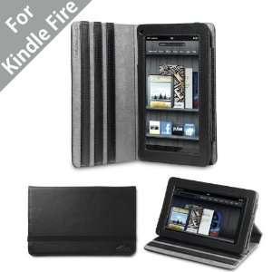 Acase Kindle Fire Premium Micro Fiber Leather Case with built in Stand
