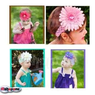 Large Daisy Flower Clip for Baby Girl Crochet Headband