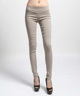 MOGAN Plain Curve Hugging PULL ON SKINNY DRESS PANTS Stretch Jeggings