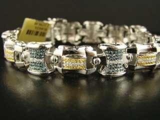 10K MENS WHITE GOLD WITH MULTI DIAMOND BRACELET 4.5 C