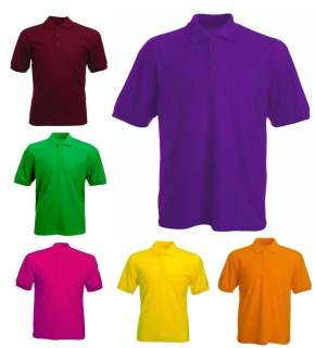 Mens Classic Pique 220gsm Polo T Shirts Sizes XS to 4XL   WORK CASUAL