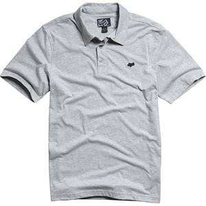 Fox Racing Mr. Clean Polo Shirt   X Large/Heather Grey