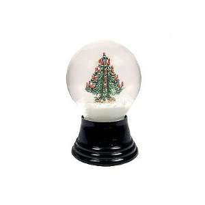 Viennese glass snow globe with Christmas tree