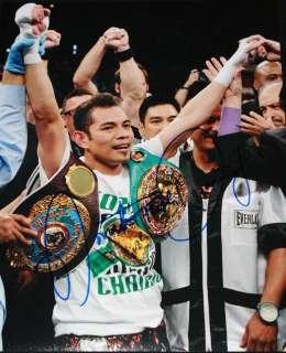 Donaire signed 11 x 14 WBO & WBC Belts, THE RING, Exact Proof, COA