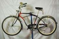 Vintage Schwinn Black Phantom balloon tire bicycle bike skiptooth red
