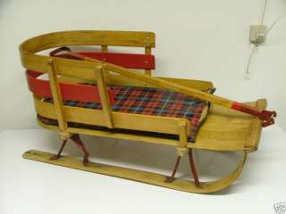 Vintage Wood Baby Toddler Child Pull Handle Chair SLED Canada Quality